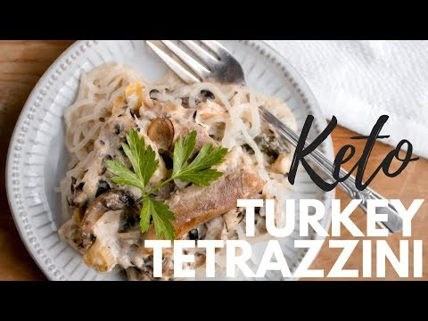 KETO TURKEY TETRAZZINI | What to cook with leftover Thanksgiving turkey | Keto Casserole