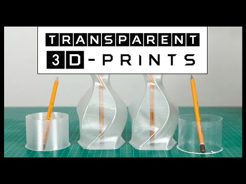 Transparent 3D Prints with ColorFabb XT