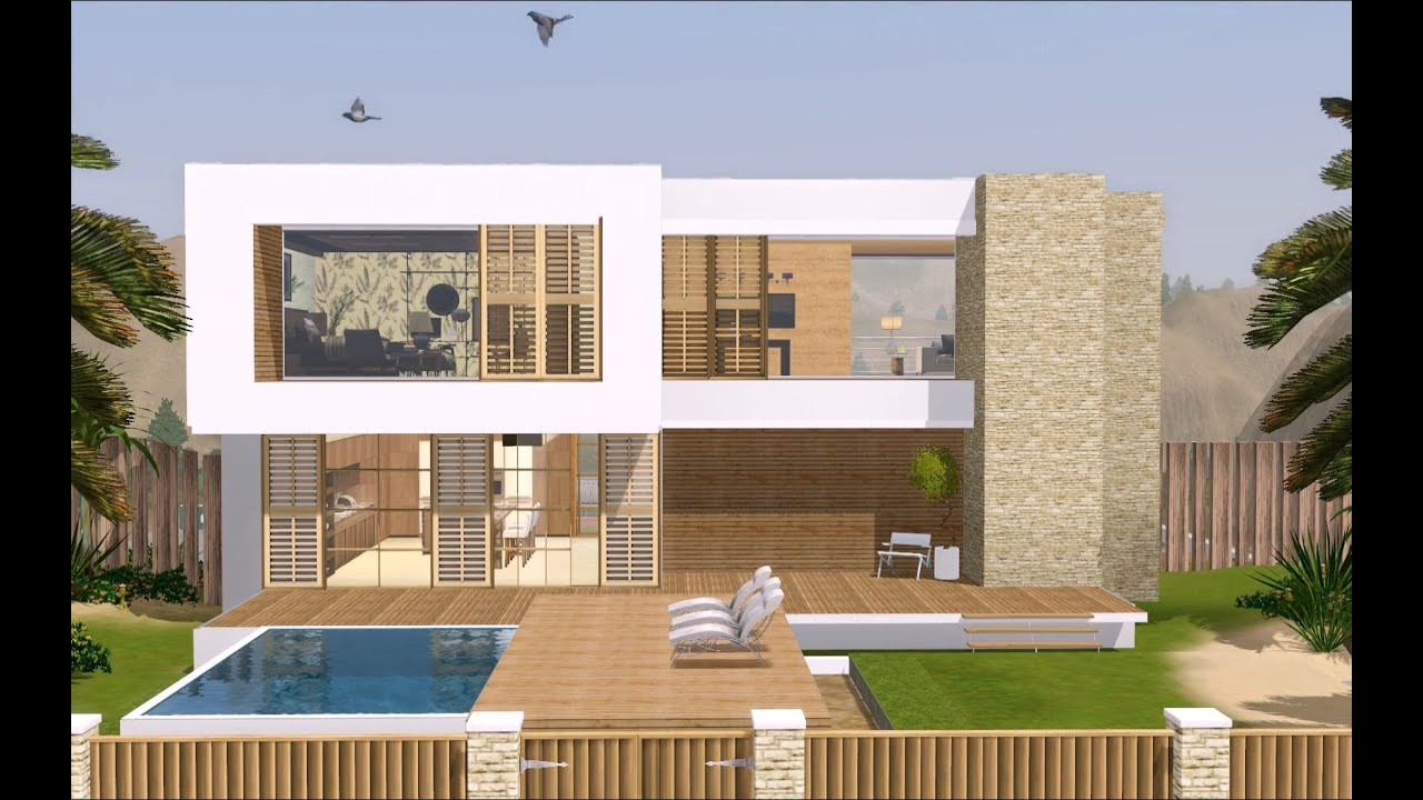 The sims 3 modern hollywood house 1080p youtube for Modern house 3