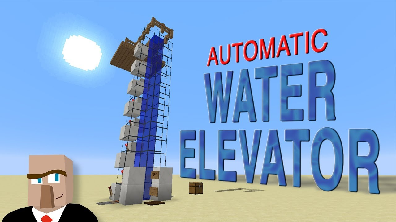 Automatic WATER ELEVATOR for Minecraft 12.123+ - Works with Players, Mobs,  and Items!