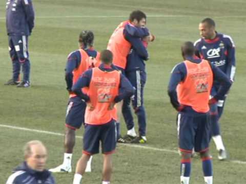 Les Bleus se sont entraînés sans Anelka, renvoyé de l'équipe de France