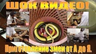 ШОК ВИДЕО. Приготовление змеи от А до Я.(Проникнув в святая святых китайской кухни, я умудрился снять, от и до, процесс приготовления змеи. Все очень..., 2012-12-17T18:02:21.000Z)