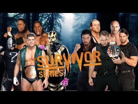 WWE Survivor Series 2013 - Team Rhodes Brothers vs Team Shield (Traditional SS Match) - WWE 2K14