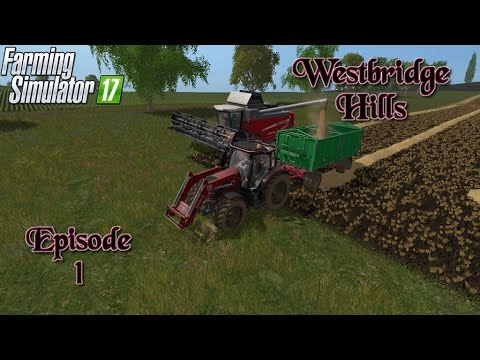 Let's Play Farming Simulator 2017 WestBridge Hills Ep.1 First Harvest and Modifying a Tractor