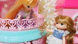 Princess baby doll house mini castle toys play Kastil boneka putri