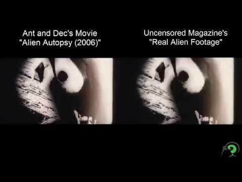 "Video comparison: Uncensored's ""Roswell Video"" and ""Alien Autopsy"" movie"