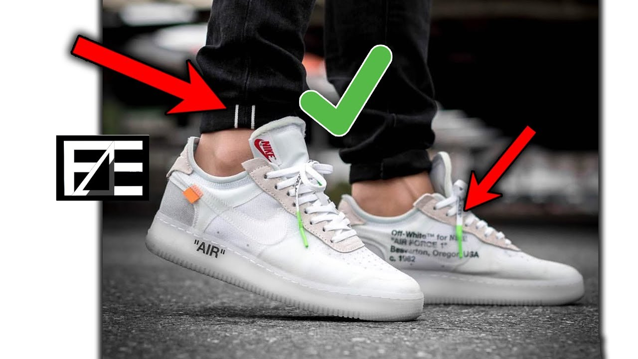 How To Properly Style Nike Air Force 1s Youtube