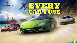 EVERY CAR I USE IN MULTIPLAYER TO GET TOP 500 WORLDWIDE - Asphalt 9