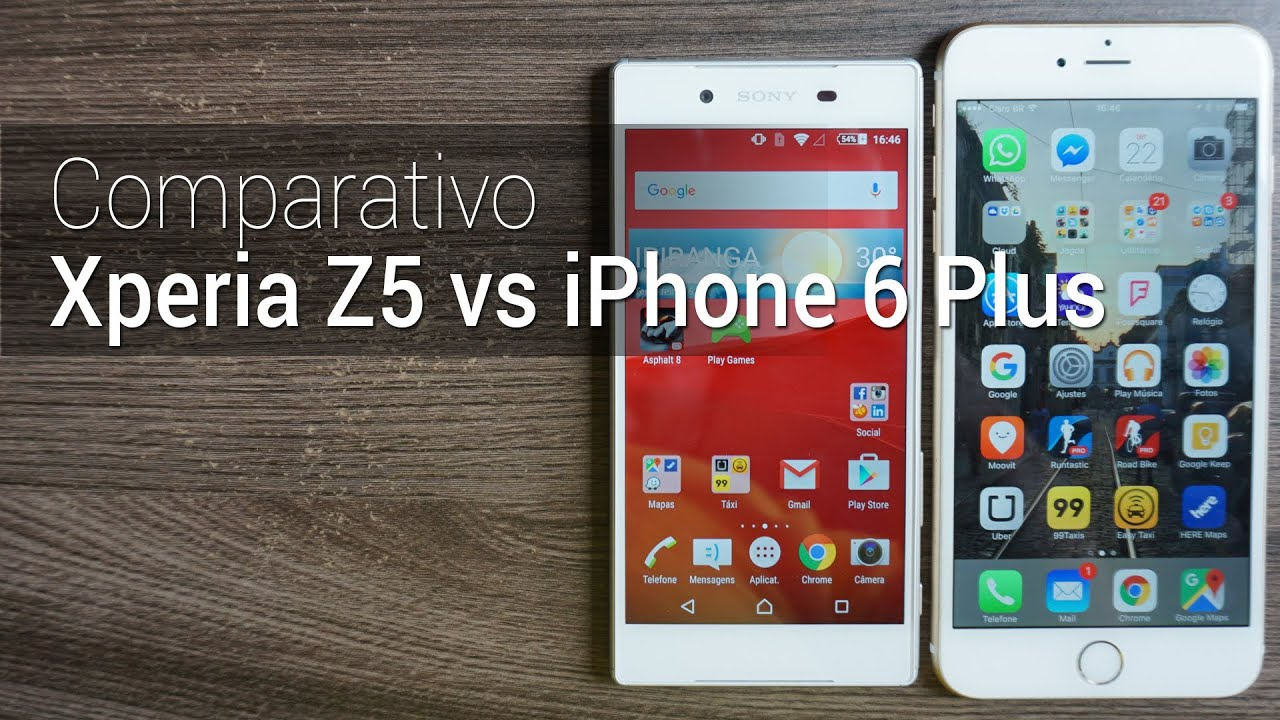 xperia z5 vs iphone 6