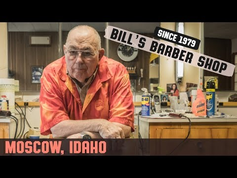 💈 1960's Era Bill's Barbershop in Moscow, Idaho | HairCut Harry Barber Shop Experience