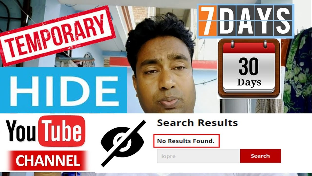 Now You Can Hide your YouTube Channel Temperately for few days | Practical Demo - YouTube