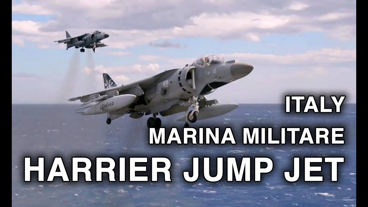 Italian Harrier Jets in Action - Vertical Takeoff and Landing, Short Takeoff on Carrier Cavour