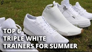 Triple White Trainers For Summer