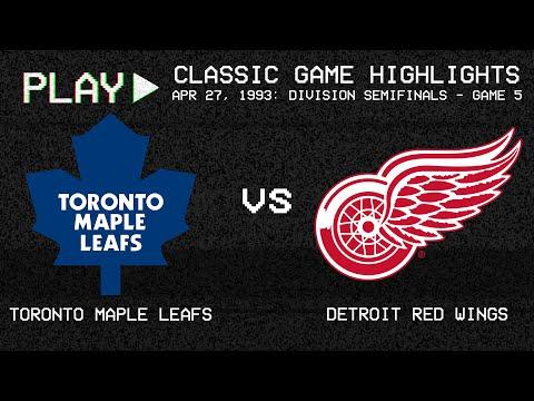 Toronto Maple Leafs Vs. Detroit Red Wings - April 27, 1993 - Norris Semi-Finals G5 | NHL Classics