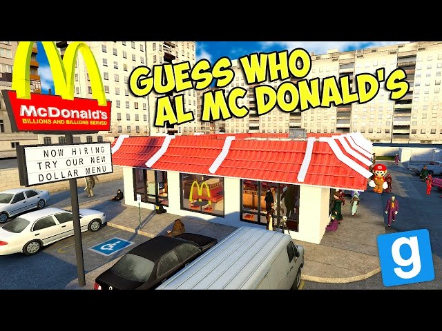 Gmod ITA - Nascondino al McDonald's! - Guess Who