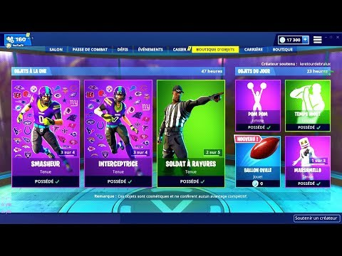 BOUTIQUE FORTNITE du 3 Fevrier 2019 ! ITEM SHOP February 3 2019 !