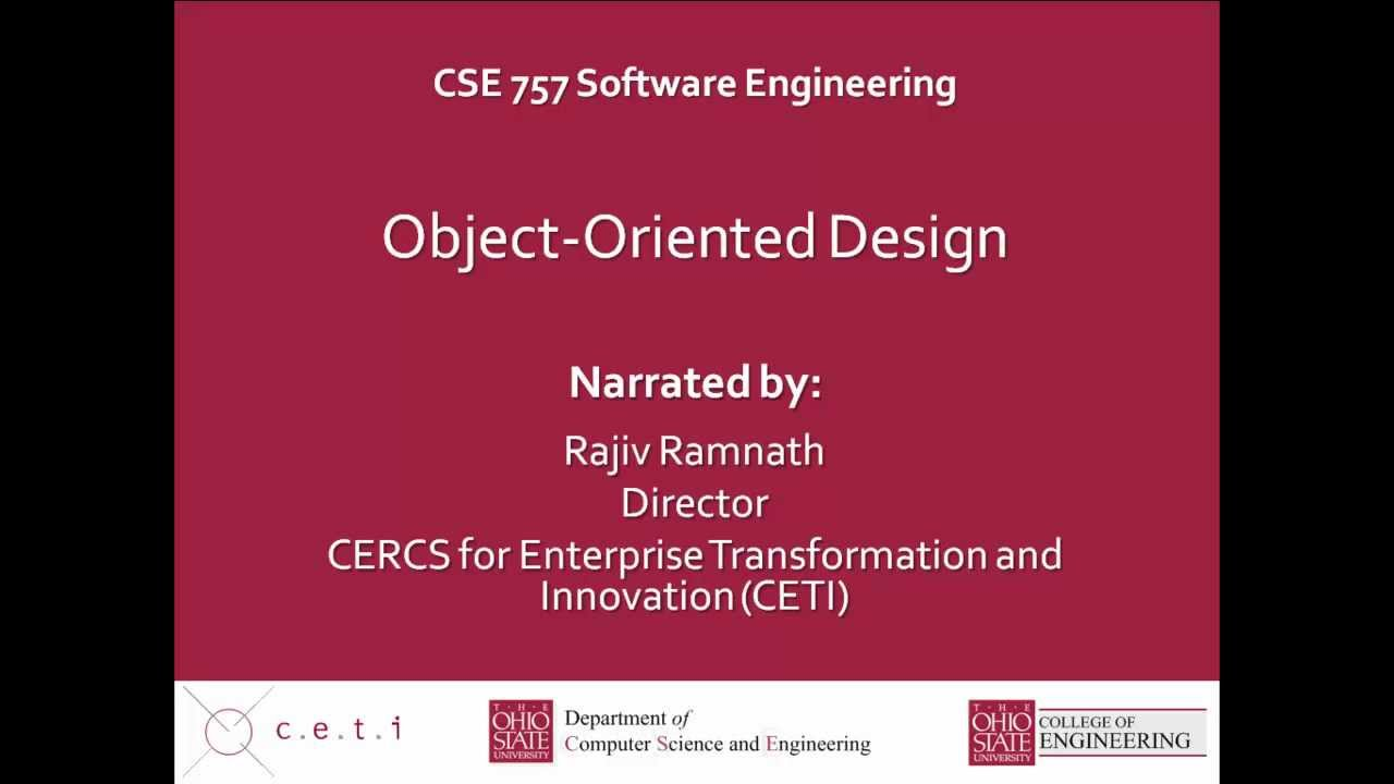 Lecture 11 Object Oriented Design Youtube