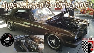 650HP Supercharged 1965 Mustang Custom Convertible by Autocraft at SEMA 2015