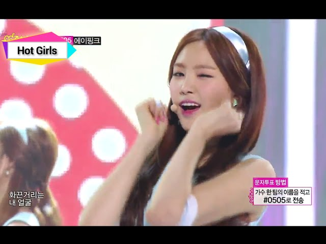 [HOT] A-Pink - Mr. Chu, 에이핑크 - 미스터 츄, 1위, Show Music core 20140412
