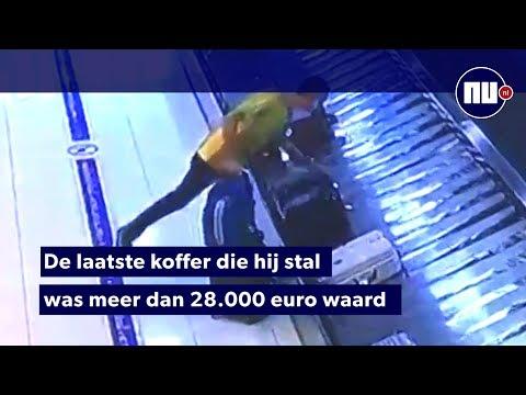 Belg steelt bagage van bagagebanden in Azië