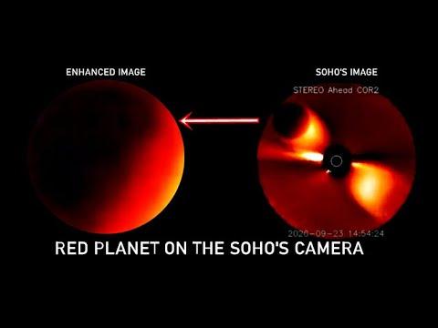 *NEXT VIDEO*RED PLANET ON THE SOHO'S CAMERA-NASA