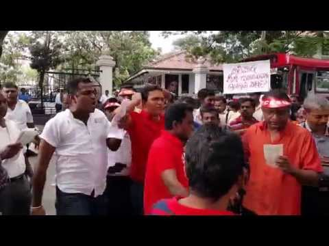 Young union activists storm ILO Colombo office