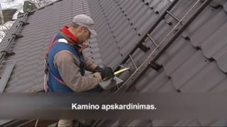 Ruukki stogo dengimas 3 dalis Lankstinių montavimas