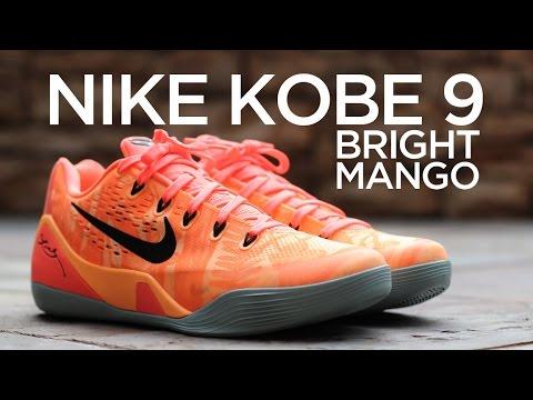 f78fff4db2de Closer Look  Nike Kobe 9 - Bright Mango - YouTube