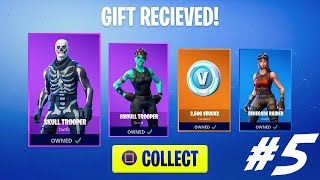 #5 Live Gifting Free Skins - Fortnite Live Stream PS4 (Giveaway at 2.5k Subscribers)