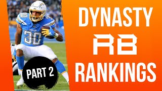 Fantasy Football Dynasty/Keeper Running Back Rankings (PART 2)