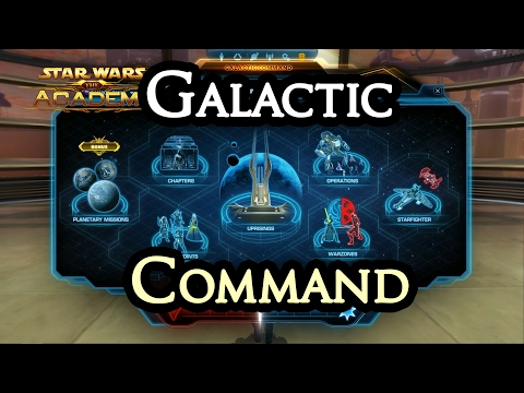 Galactic Command and Gear at Level 70 in SWTOR - The Academy