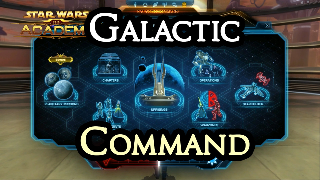SWTOR Galactic Command Guide - Swtorista - SWTOR Videos