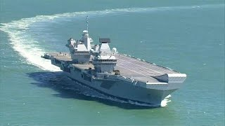HMS Queen Elizabeth heads for Portsmouth