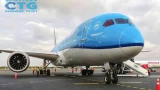 Inaugural flight of KLM - Spotters Cartagena de Indias