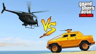 HVY INSURGENT VS BUZZARD ATTACK HELICOPTER!   WHO WILL WIN?   Best Custom Jobs In GTA 5 Online