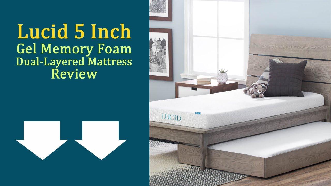 lucid 5 inch gel memory foam mattress Lucid 5 Inch Gel Memory Foam Dual Layered Mattress Review: Updated  lucid 5 inch gel memory foam mattress