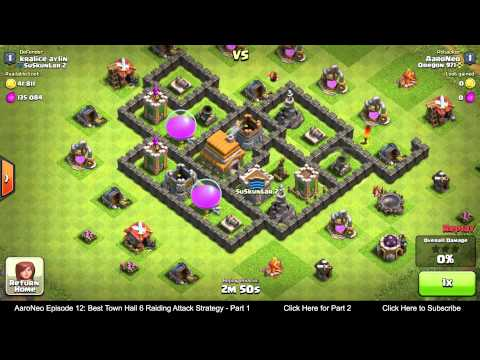 BEST Town Hall Level 6 (TH6) Raiding Attack Strategy (Giants & Healers) Clash of Clans - Part 1