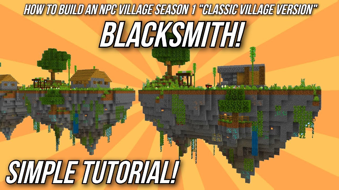 Minecraft Tutorial: How to build an NPC Village - Blacksmith!