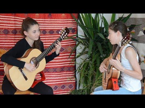 月光 二重奏 Duet for guitars: Etude à 2 parties, Op35 n22, by Fernando SOR & Arnaud DUMOND