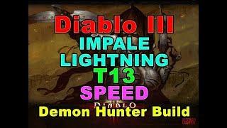 Impale T13-GR70 3min Speedfarm Demon Hunter Build (Diablo 3)