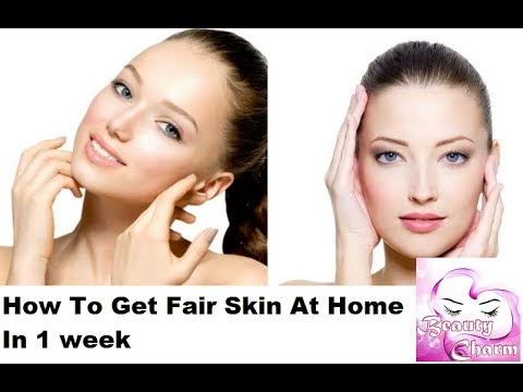 how to get clear skin in 1 week