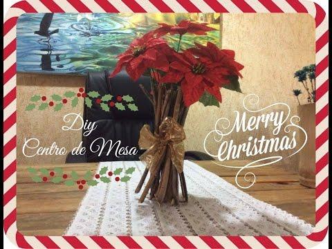 centro de mesa navideño facil y economico