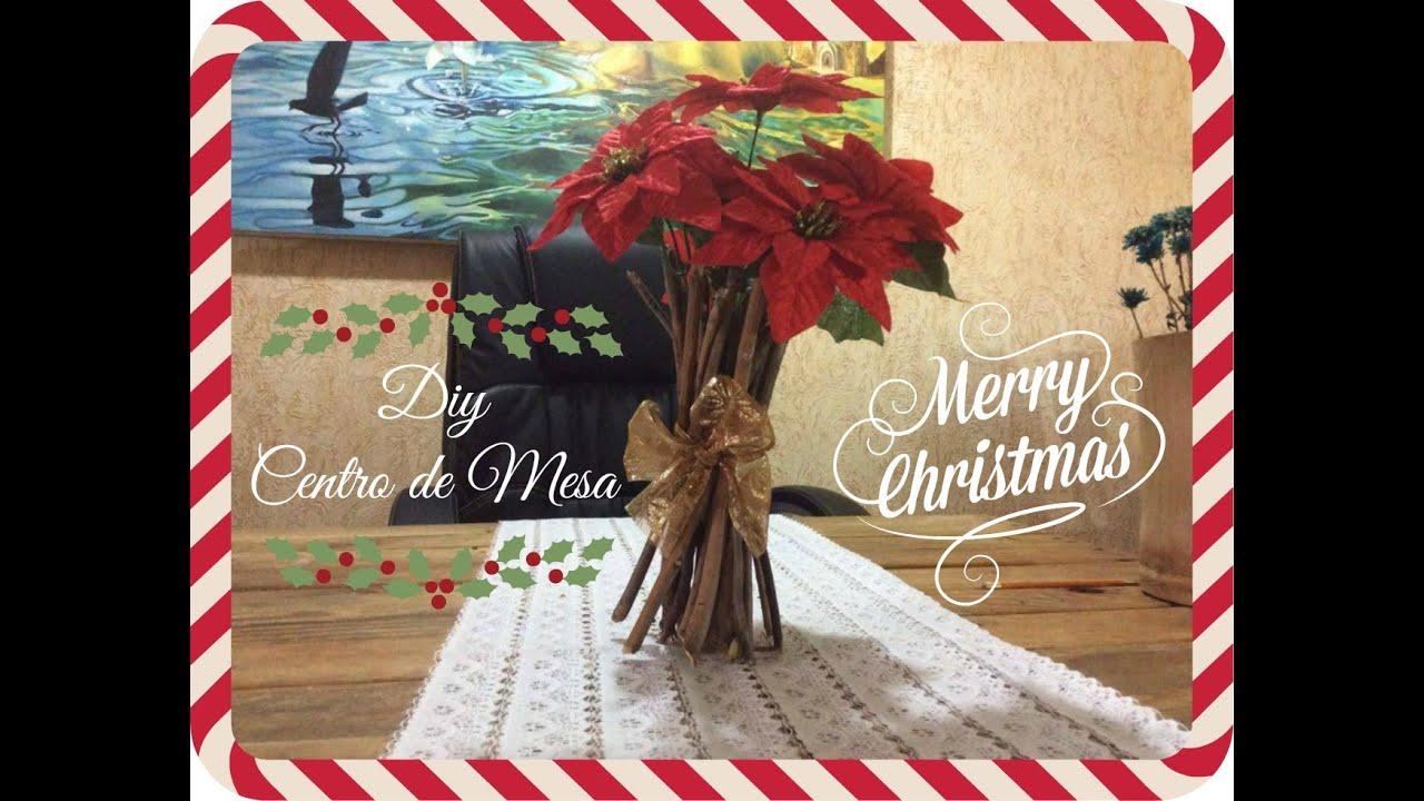 Centro de mesa navide o facil y economico youtube - Youtube centros de mesa navidenos ...