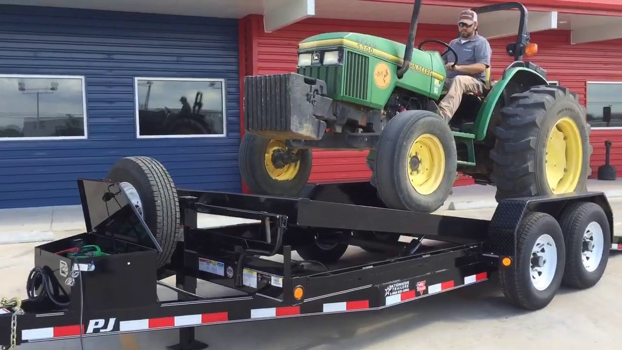Pj trailers powered tilt trailer from nationwide trailers