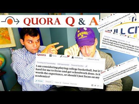 Quora Q&A: H2B visa costs, speed up USCIS case, minors buying companies, balance school & basketball