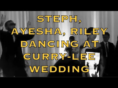 Steph, Ayesha & Riley dancing at Sydel Curry x Damion Lee wedding + Donovan Mitchell