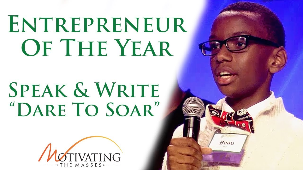 Speak & Write - Entrepreneur Of The Year Beau Shell