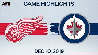 NHL Highlights | Red Wings vs. Jets – Dec. 10, 2019