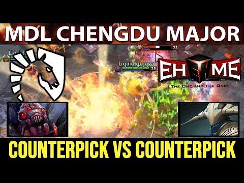 Counterpick vs Counterpick LIQUID vs EHOME  MDL Chengdu Major Dota 2