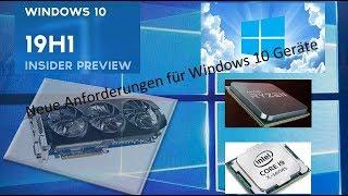 Neue Geräte-Anforderungen für Windows 10 im Frühjahr 2019
